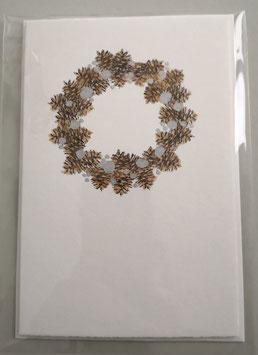 Weihnachtskarte - ZAPFENKRANZ - 10,5 x 15,5 cm - ohne Text - einzeln oder im günstigen 3er-Pack