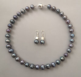 "Perlenkette  ""CELESTE"" - Süßwasserzuchtperlen mit 925er Magnetverschluss – ca. 45 cm lang - Ohrringe optional"