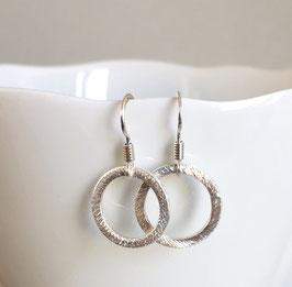 """Ohrringe """"Kreis"""" aus 925er Sterlingsilber"""