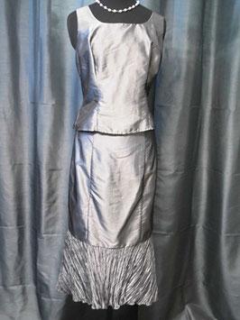 Cocktailkleid (Kostüm 3-Teilig) von Kleemeier-Valerie in Größe 42 silbergrau