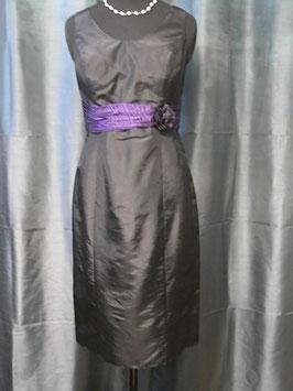 Cocktailkleid mit Jacke von Kleemeier-Valerie in Größe 40 - 42   2-teilig schwarz-lila