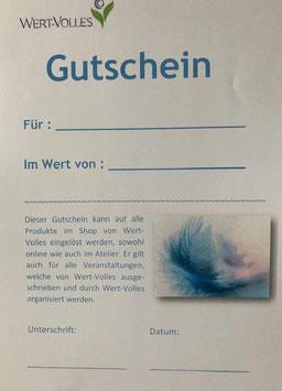 Gutschein Wert-Volles