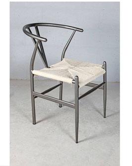 Design Stuhl Gartenstuhl Metall Rattan