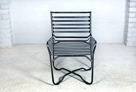 Design Lounge Stuhl Metall mit Jute Kissen