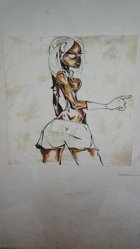""" Graffiti Frau"""