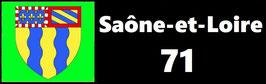 ( 71 )   Un Porte certificat simple pour assurance ou CT. Département Saône et Loire  (fond noir ou transparent)