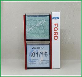 FORD.   Un Porte certificats double pour assurance et CT avec logo Ford  (fond noir ou transparent)