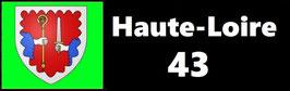 ( 43 )   Un Porte certificat simple pour assurance ou CT. Département Haute Loire  (fond noir ou transparent)