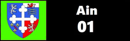 ( 01 )   Un Porte certificat simple pour assurance ou CT. Département l'Ain (fond noir ou transparent)