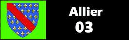 ( 03 )   Un Porte certificat pour assurance ou CT. Département Allier (fond noir ou transparent)