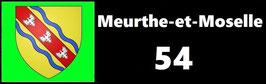 ( 54 )   Un Porte certificat simple pour assurance ou CT. Département Meurthe et Moselle  (fond noir ou transparent)