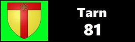 ( 81 )   Un Porte certificat simple pour assurance ou CT. Département Tarn  (fond noir ou transparent)