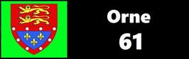 ( 61 )   Un Porte certificat simple pour assurance ou CT. Département Orne  (fond noir ou transparent)