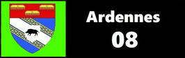 ( 08 )   Un Porte certificat pour assurance ou CT. Département Ardennes (fond noir ou transparent)