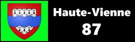 ( 87 )   Un Porte certificat simple pour assurance ou CT. Département Haute Vienne  (fond noir ou transparent)