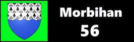 ( 56 )   Un Porte certificat simple pour assurance ou CT. Département Morbihan  (fond noir ou transparent)