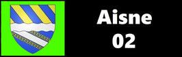 ( 02 )   Un Porte certificat simple pour assurance ou CT. Département l'Aisne (fond noir ou transparent)