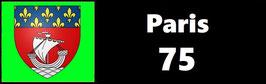 ( 75 )   Un Porte certificat simple pour assurance ou CT. Département Paris  (fond noir ou transparent)