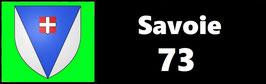 ( 73 )   Un Porte certificat simple pour assurance ou CT. Département Savoie  (fond noir ou transparent)