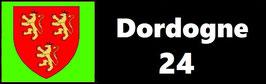 ( 24 )   Un Porte certificat pour assurance ou CT. Département Dordogne  (fond noir ou transparent)