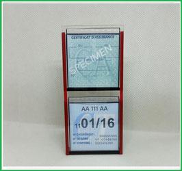 ( H )   Un Porte certificats double neutre pour assurance et certificat CT auto (fond noir ou transparent)