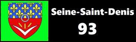 ( 93 )   Un Porte certificat simple pour assurance ou CT. Département Seine Saint Denis  (fond noir ou transparent)