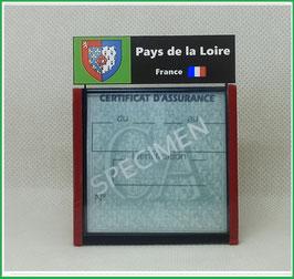 ( R12 )   Un Porte certificat d'assurance ou CT. Région Pays de la Loire  (fond noir ou transparent)