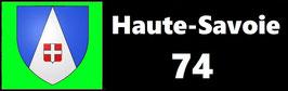( 74 )   Un Porte certificat simple pour assurance ou CT. Département Haute Savoie  (fond noir ou transparent)
