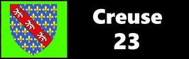 ( 23 )   Un Porte certificat pour assurance ou CT. Département Creuse  (fond noir ou transparent)