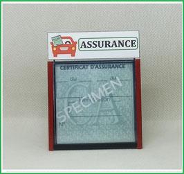 ( DV011 )   Un Porte certificat d'assurance ou CT auto avec dessin Assurance  (fond noir ou transparent)