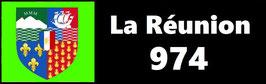 ( 974 )   Un Porte certificat simple pour assurance ou CT. Département La Réunion  (fond noir ou transparent)