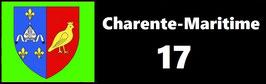 ( 17 )   Un Porte certificat pour assurance ou CT. Département Charente Maritime (fond noir ou transparent)