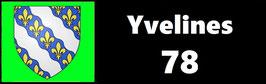 ( 78 )   Un Porte certificat simple pour assurance ou CT. Département Yvelines  (fond noir ou transparent)