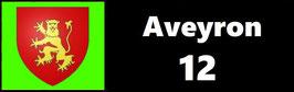 ( 12 )   Un Porte certificat pour assurance ou CT. Département Aveyron (fond noir ou transparent)