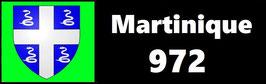 ( 972 )   Un Porte certificat simple pour assurance ou CT. Département Martinique  (fond noir ou transparent)