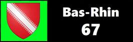 ( 67 )   Un Porte certificat simple pour assurance ou CT. Département Bas Rhin  (fond noir ou transparent)