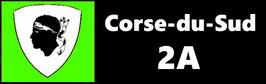 ( 2A )   Un Porte certificat simple pour assurance ou CT. Département Corse du Sud (fond noir ou transparent)