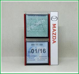 MAZDA.   Un Porte certificats double pour assurance et CT avec logo Mazda  (fond noir ou transparent)