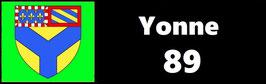 ( 89 )   Un Porte certificat simple pour assurance ou CT. Département Yonne  (fond noir ou transparent)