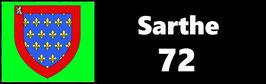 ( 72 )   Un Porte certificat simple pour assurance ou CT. Département Sarthe  (fond noir ou transparent)
