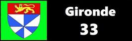 ( 33 )   Un Porte certificat simple pour assurance ou CT. Département Gironde  (fond noir ou transparent)