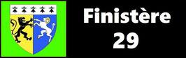 ( 29 )   Un Porte certificat pour assurance ou CT. Département Finistère  (fond noir ou transparent)