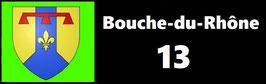 ( 13 )   Un Porte certificat pour assurance ou CT. Département Bouche du Rhône (fond noir ou transparent)