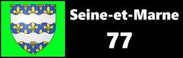 ( 77 )   Un Porte certificat simple pour assurance ou CT. Département Seine et Marne  (fond noir ou transparent)