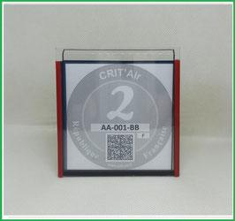( CR )   Un Porte certificat neutre Crit'air (fond noir ou transparent)