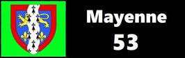 ( 53 )   Un Porte certificat simple pour assurance ou CT. Département Mayenne  (fond noir ou transparent)