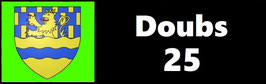 ( 25 )   Un Porte certificat pour assurance ou CT. Département Doubs  (fond noir ou transparent)