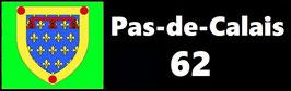 ( 62 )   Un Porte certificat simple pour assurance ou CT. Département Pas de Calais  (fond noir ou transparent)