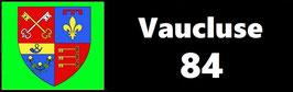 ( 84 )   Un Porte certificat simple pour assurance ou CT. Département Vaucluse  (fond noir ou transparent)
