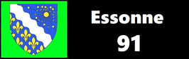 ( 91 )   Un Porte certificat simple pour assurance ou CT. Département Essonne  (fond noir ou transparent)
